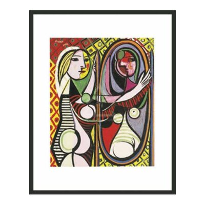 Girl Before a Mirror by Picasso Framed Print - 14