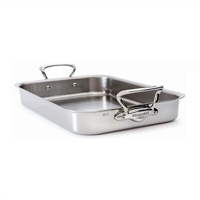 M'cook Cook'Style Shallow Roasting Pan with Stainless Steel Handle