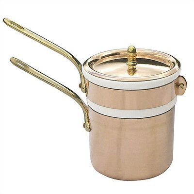 Mauviel M'tradition Cupretam Copper 1.6-qt. Double Boiler with Lid