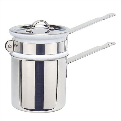Mauviel M'cook Cupretam 0.9-qt. Stainless Steel Double Boiler with Lid
