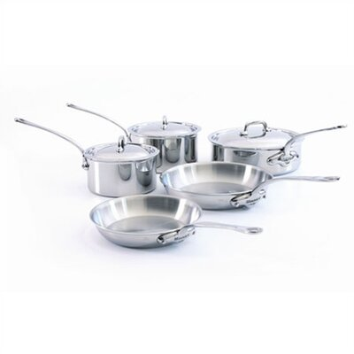 Mauviel M'Cook 5-Ply Stainless Steel 8-Piece Cookware Set