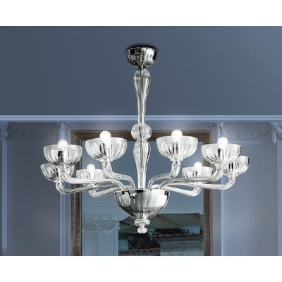 FDV Collection Orietta Indovino Veronese 8 Light Chandelier Bulb Type 6x60 E12+1x100 E26 G 40