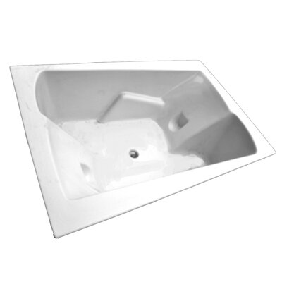 "American Acrylic 71"" x 48"" Arm-Rest Air Tub"