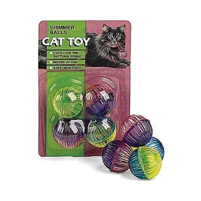 Ethical Pet Shimmer Balls Cat Toy (4 Pack)
