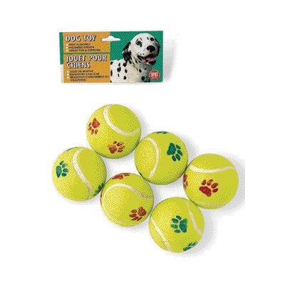 Ethical Pet Tennis Ball Dog Toy (6 Pack)