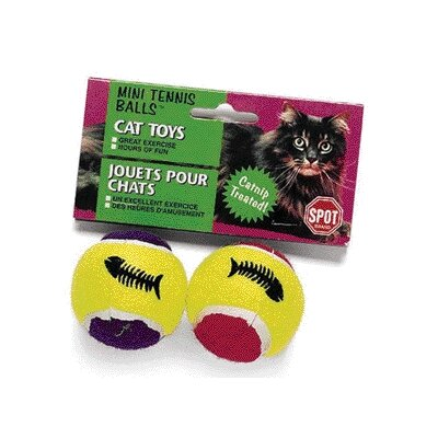Ethical Pet Mini Tennis Ball with Catnip Cat Toy