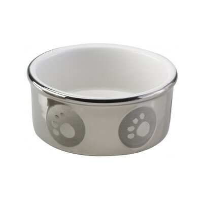 Ethical Pet Paw Print Titanium Dog Dish