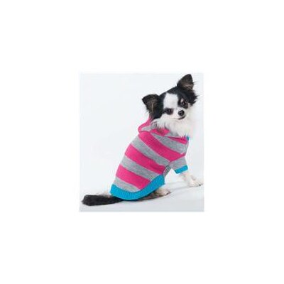 Ethical Pet Collegiate Striped Dog Sweater