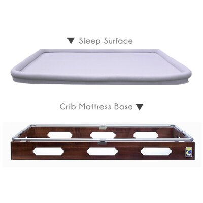 Secure Beginnings French Provincial Crib Mattress Base with Sleep Surface