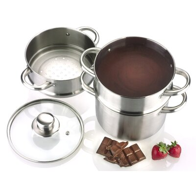 Fagor Commercial 2-qt. Stainless Steel Double Boiler with Lid