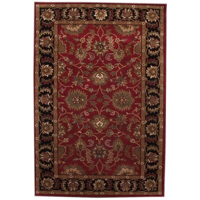 Acura Rugs Aaryan Red/Black Rug