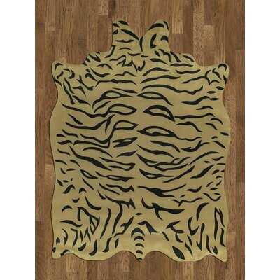 Acura Rugs Animal Hide Yellow/Black Tiger Rug