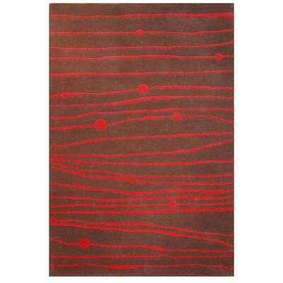 Contempo Brown/Red Rug