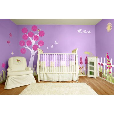My Wonderful Walls Splendid Garden Self-Adhesive Wall Stencil Kit