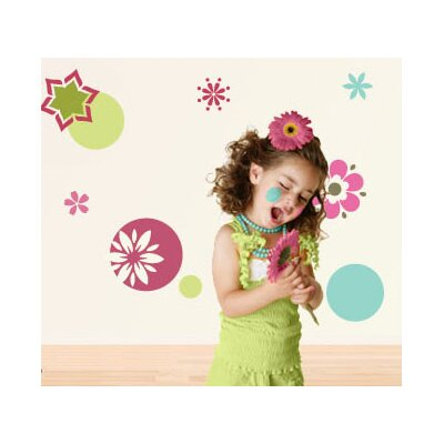 My Wonderful Walls Dots and Daisies Self-Adhesive Wall Stencil Kit