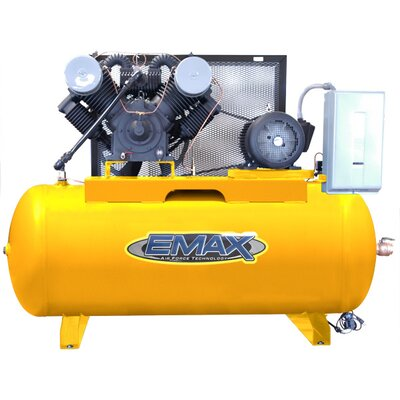 EMAX 120 Gallon 20 HP 2 Stage Stationary Air Compressor