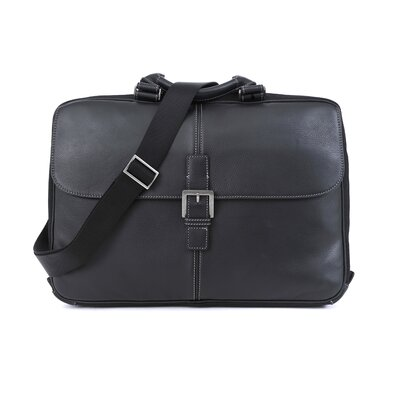 Boconi Tyler Tumbled Portfolio Leather Laptop Briefcase