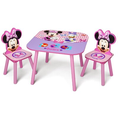 Delta Children Minnie Mouse Kids' 3 Piece Table and Chair Set