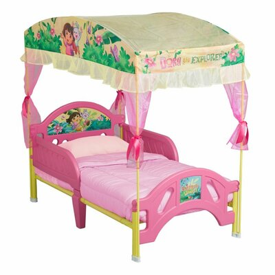 Delta Children Nickelodeon Dora the Explorer Toddler Bed with Canopy