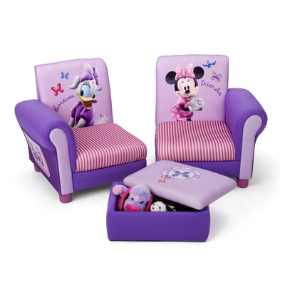 Disney Minnie Mouse Chair And Ottoman Upholstered Chair With Ottoman Disney Minnie Mouse Delta