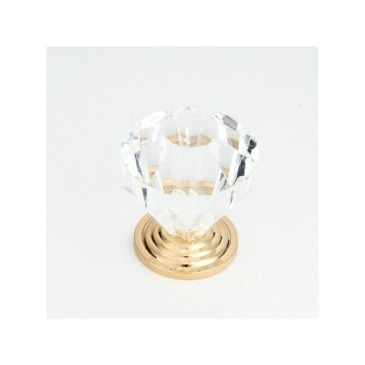 QMI Glass Cabinet Knob in Clear Finish