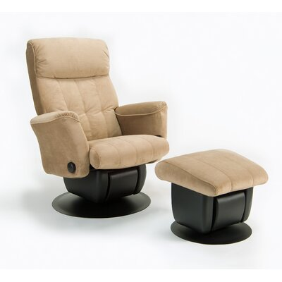 Dutailier 212 Chicago Glider with Closed Base and Ottoman