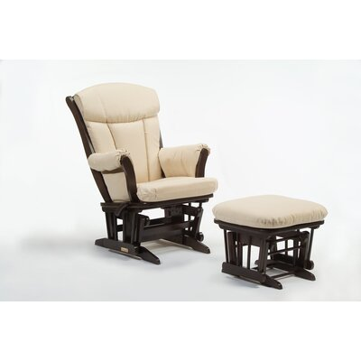 Maple Sleigh Multi-Position Recline Glider and Ottoman