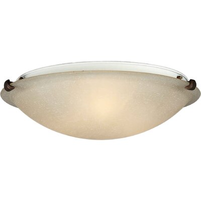 Forte Lighting Flush Mount - Marble Glass Shade