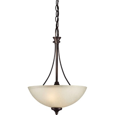 Forte Lighting 2 Light Bowl Inverted Pendant