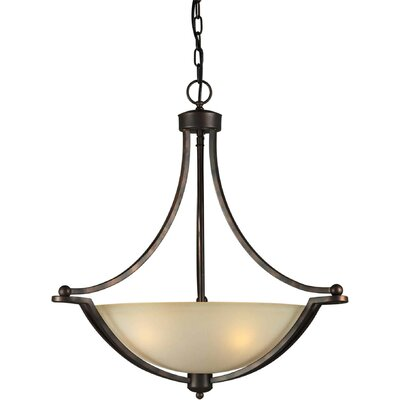 Forte Lighting 4 Light Bowl Inverted Pendant