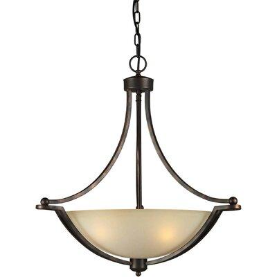 forte lighting 4 light bowl inverted pendant. Black Bedroom Furniture Sets. Home Design Ideas