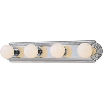 Forte Lighting Four Light Bath Vanity Strip