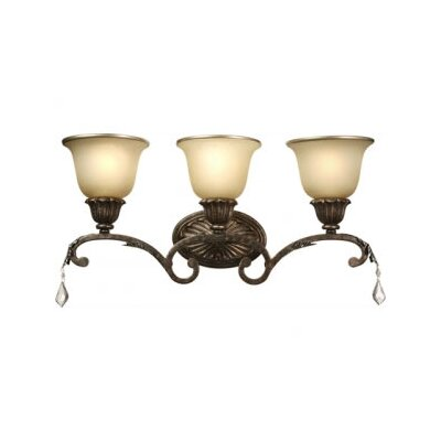 Artcraft Lighting Florence Three Light Wall Sconce in Bronze