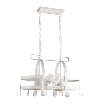 Artcraft Lighting Pot Racks Chandelier with 2 Light