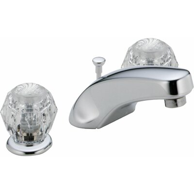 Classic Widespread Bathroom Faucet with Double Knob Handles - 3544LF-WFMPU