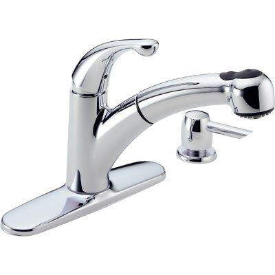 Delta Palo Diamond Seal Technology Pull Out Single Handle Centerset Kitchen Faucet