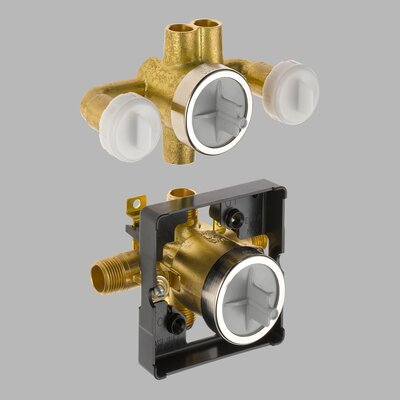 Delta Jetted Shower 6-Setting Rough-In Valve with Extra Outlet