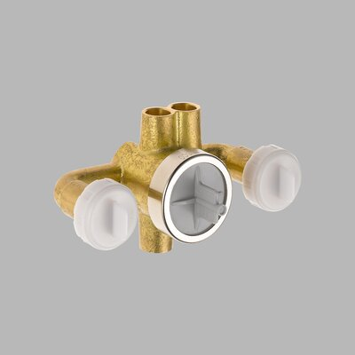 Jetted Shower 6-Setting Rough-In Valve with Extra Outlet - R1827-XO