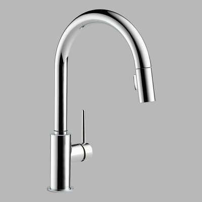 Delta Trinsic Single Handle Single Hole Kitchen Faucet with Diamond Seal Technology