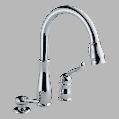Leland Single Handle Widespread Kitchen Faucet with Optional Soap Dispenser