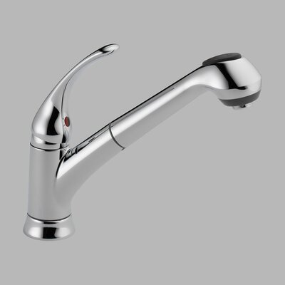 Foundations Single Handle Single Hole Pull-Out Kitchen Faucet
