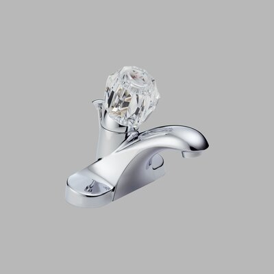 Delta Foundations Centerset Bathroom Faucet with Single Knob Handle