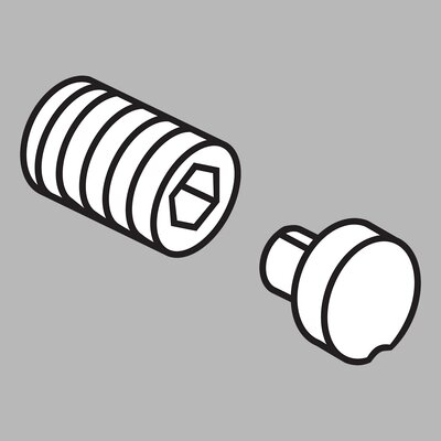 Addison Roman Tub Handle Button and Set Screw - RP61279