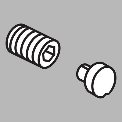 Delta Addison Button Cover and Screw (Set of 2)