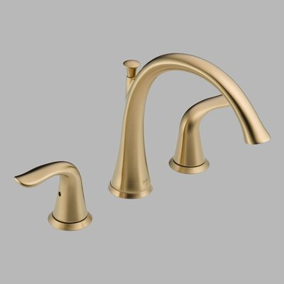 Delta Lahara Double Handle Deck Mount Roman Tub Faucet Lever Handle