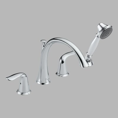 Delta Lahara Two Handle Roman Tub Trim with Hand Shower - Lever Handles