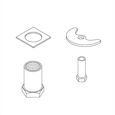 Delta Thick Deck for Installation Kit Bathroom / Kitchen Faucet