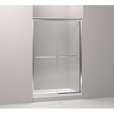 "Kohler Fluence Sliding Shower Door, 70-5/16"" H X 44-5/8 - 47-5/8"" W, with 1/4"" Thick Crystal Clear Glass"