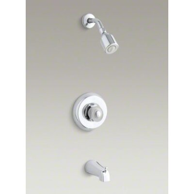 Kohler Coralais Shower Faucet Trim with Sculptured Acrylic Handle and Slip-Fit Spout