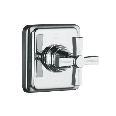 Kohler Pinstripe Transfer Valve Trim, Cross Handle, Valve Not Included